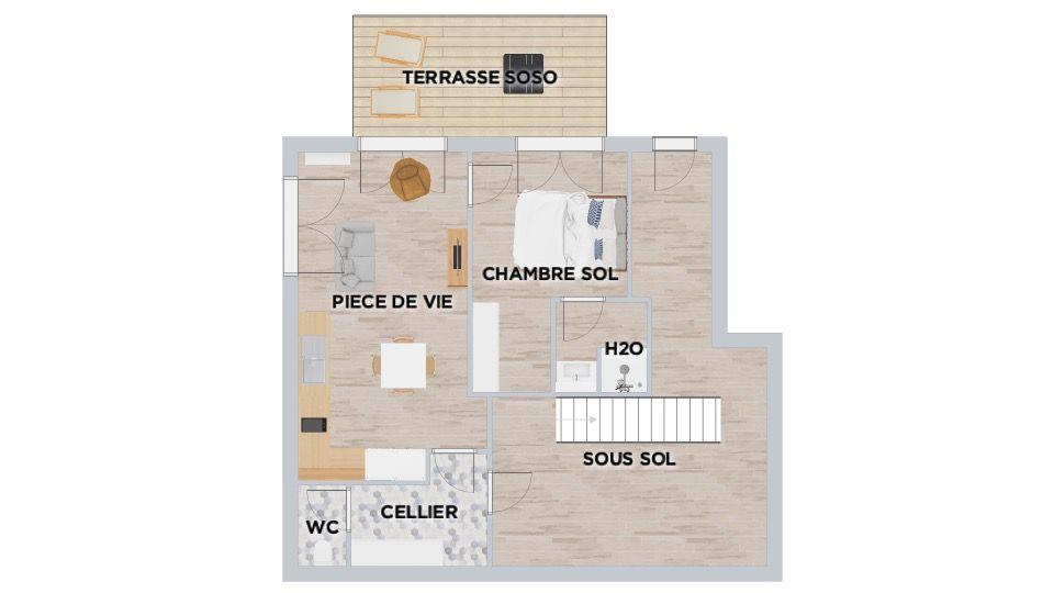 idée sous sol + appartement T2