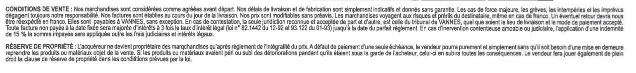 condition facture