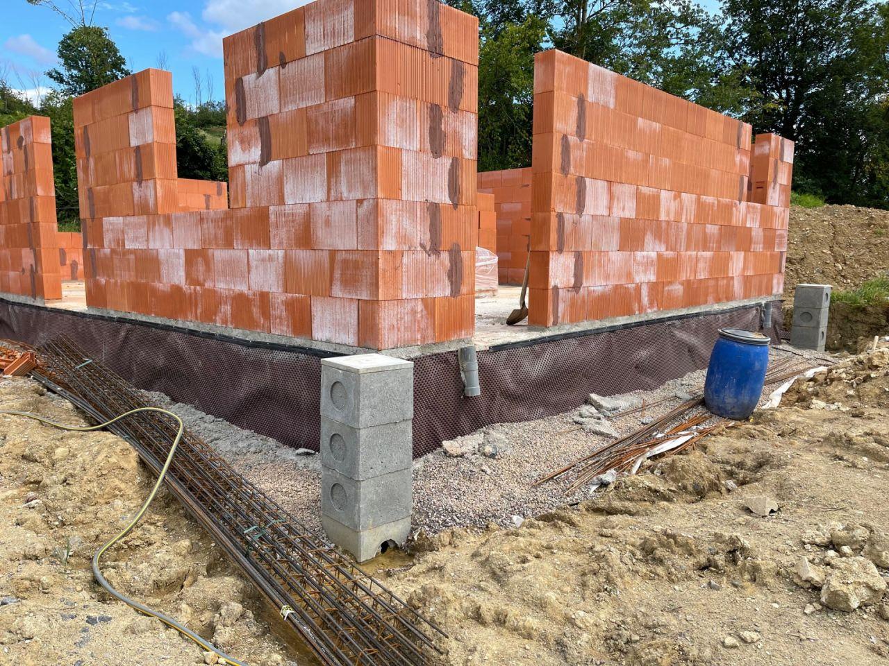 Elévation des murs en brique Biobric bgv'thermo