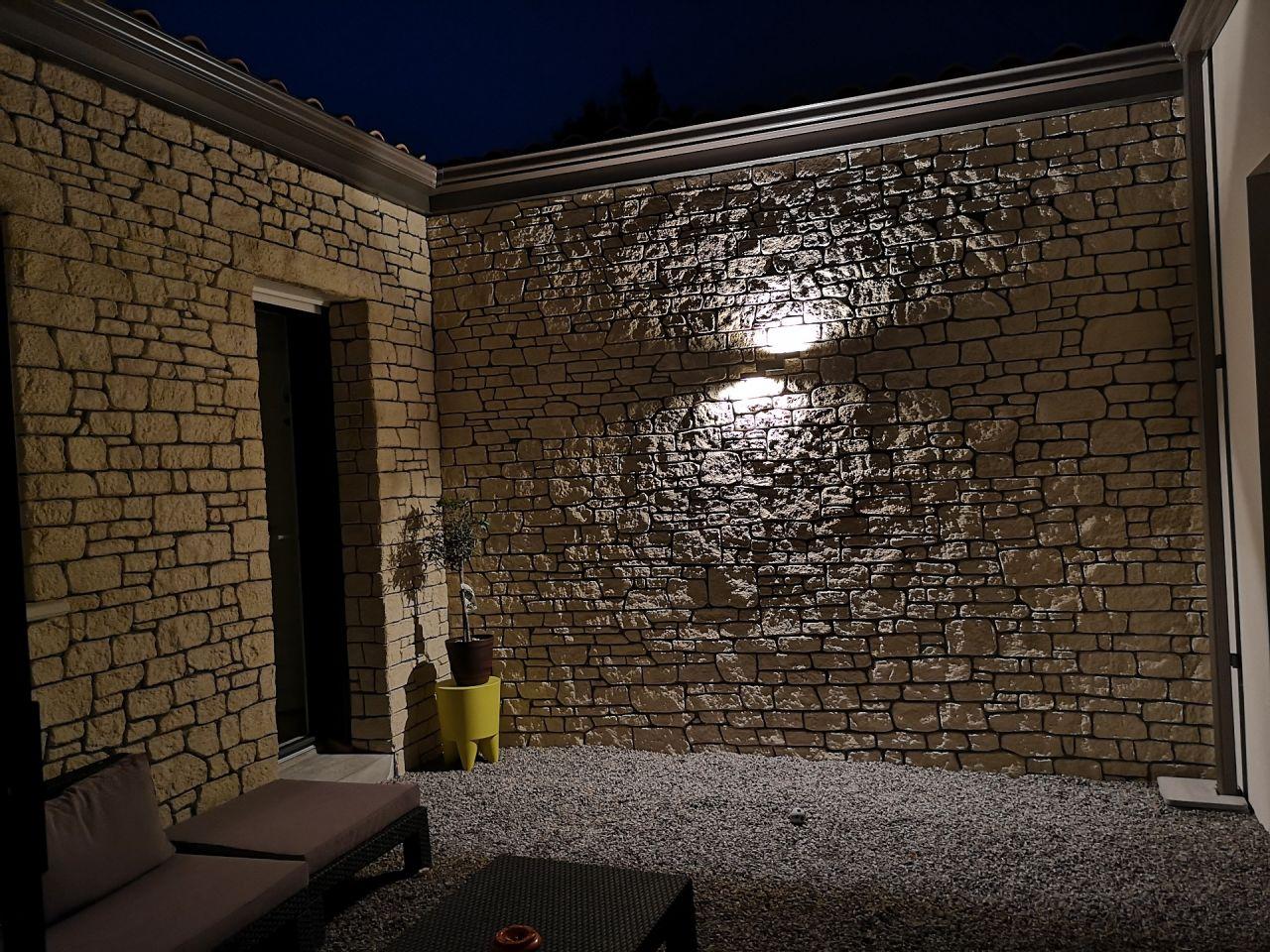 Éclairage du patio