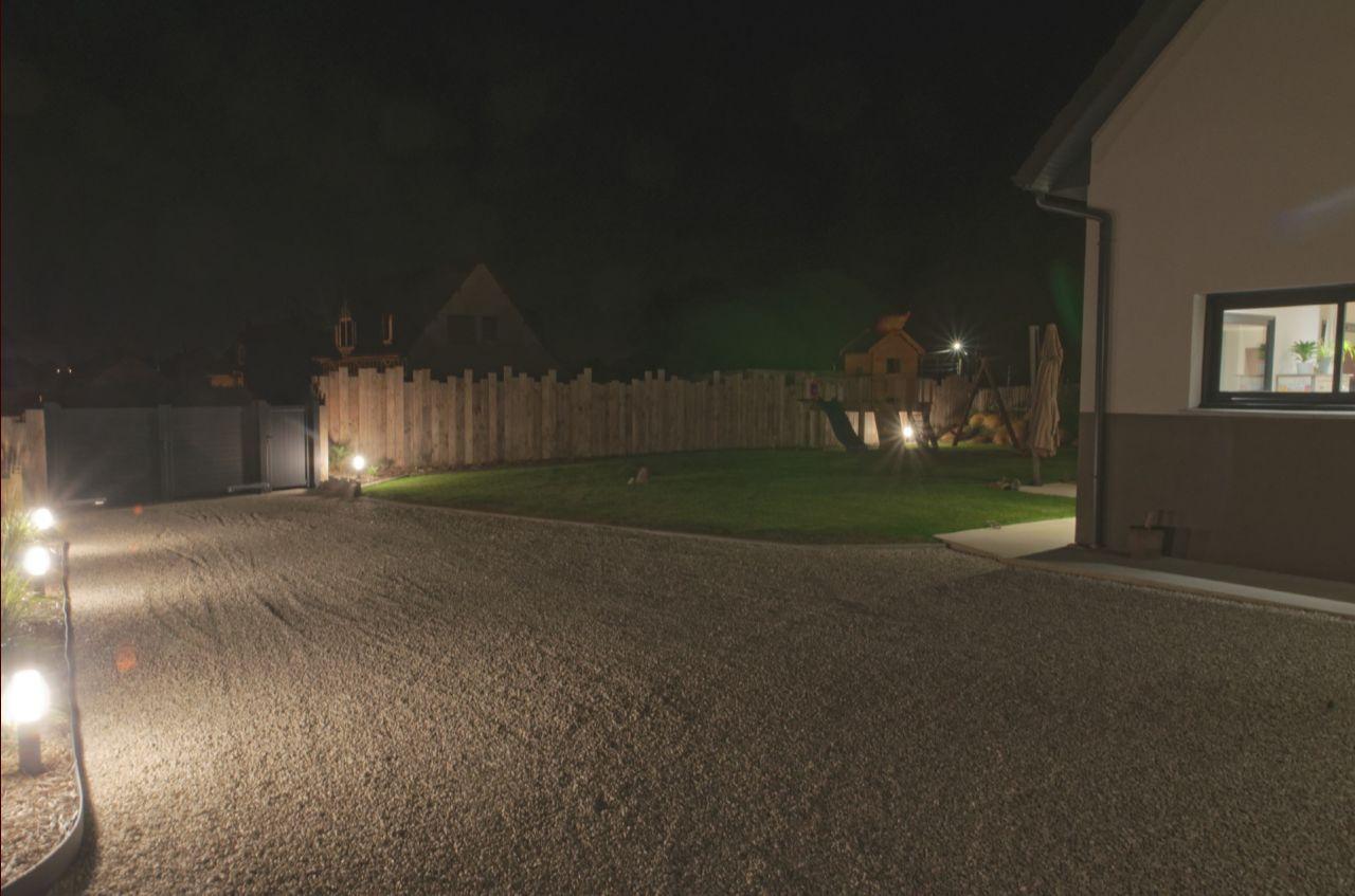 Eclairage extérieur abords de la maison