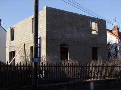 Murs de l'étage - vue diagonale