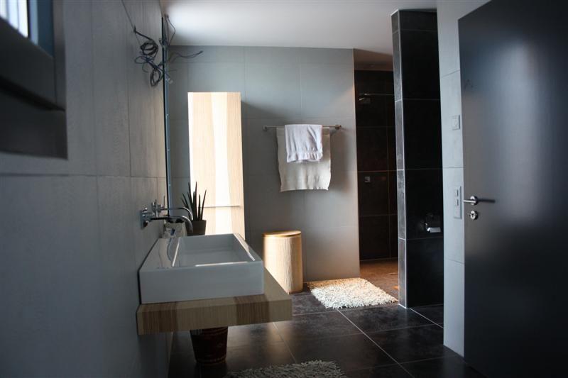 Aide idée salle de bain avec carrelage anthracite... - 14 messages
