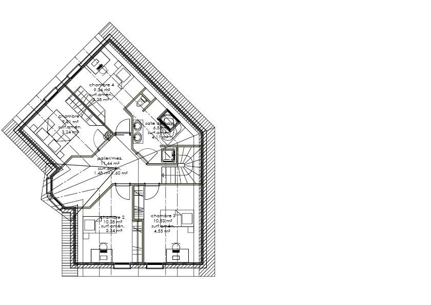 besoin de plan pour combles am nageables maison en v 4 messages. Black Bedroom Furniture Sets. Home Design Ideas