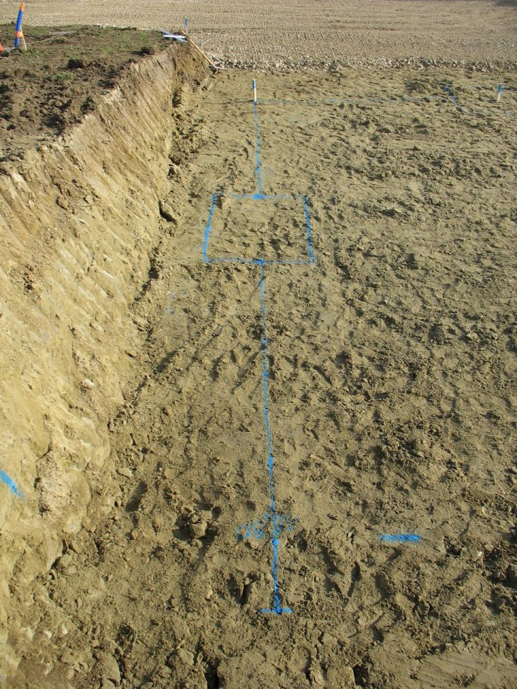 Marquage au sol des fouilles à creuser