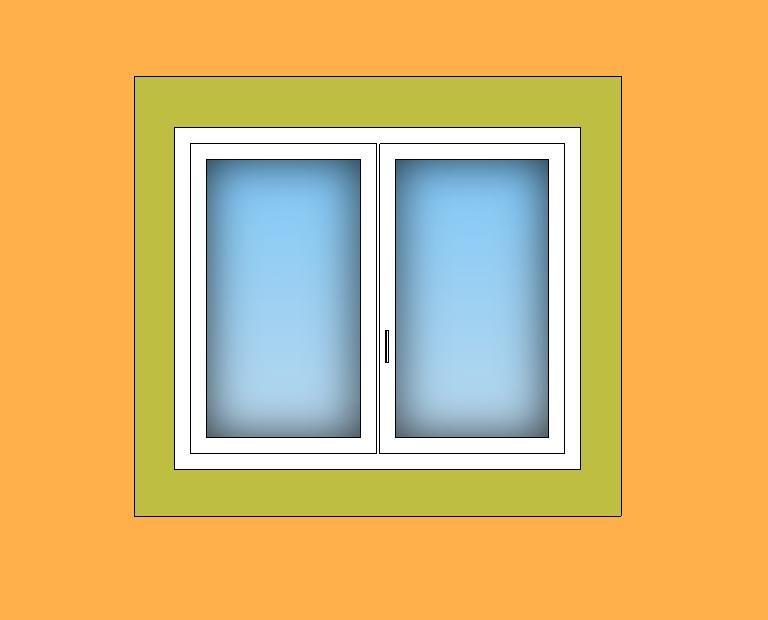 Schéma de pose des menuiseries extérieures avec isolation extérieure.