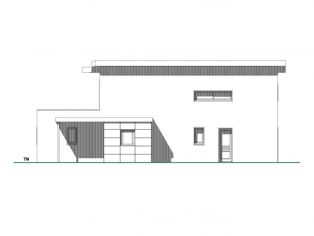 Plan facade nord