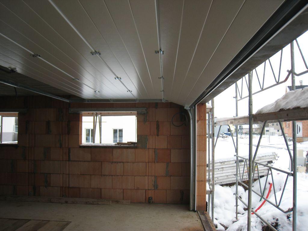 la nouvelle porte du garage