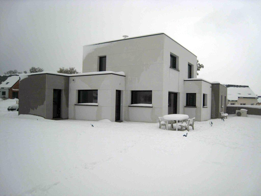 tempête de neige !!! 40 cm de neige sur mes toits !!