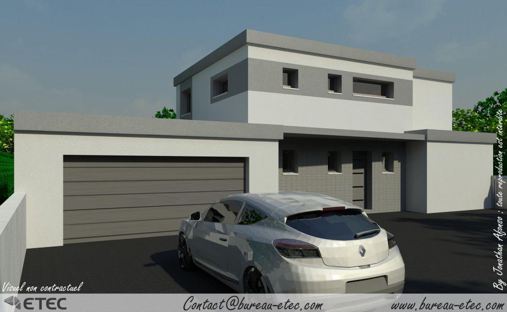 Vues 3d et permis de construire cote d 39 or for Construire terrasse toit
