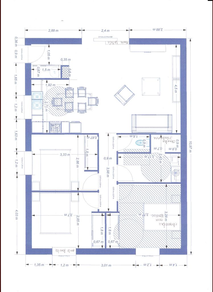 plan maison handicape