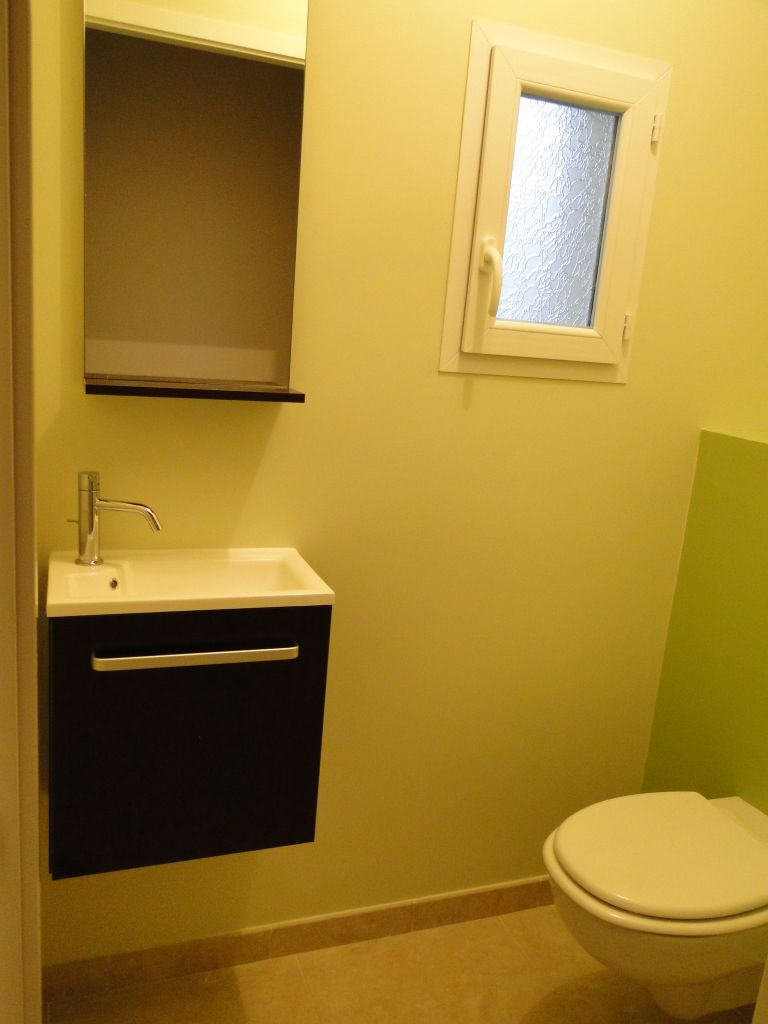 WC. Meuble et miroir   tablette Ludik de chez LAPEYRE