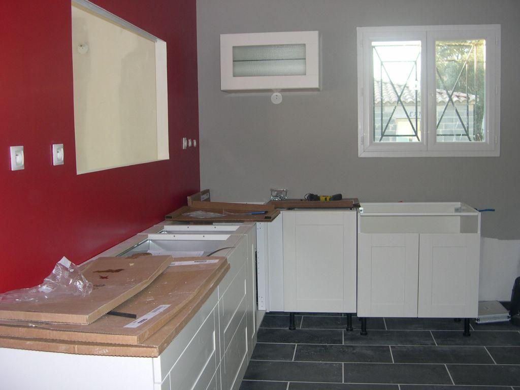 Couleur mur cuisine avec meuble blanc 13 messages for Cuisine blanc mur gris