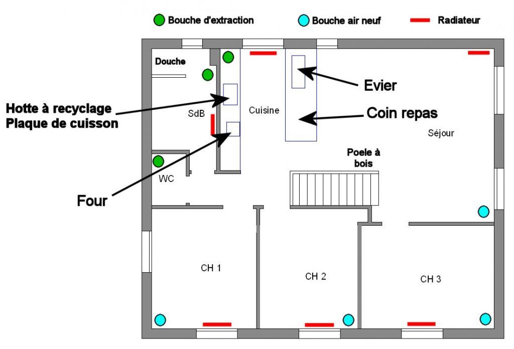 Implantation des bouches d 39 une vmc double flux 7 messages for Implantation salle de bain