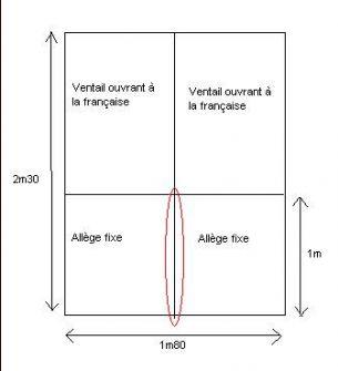 Renfort vertical au milieu d 39 une all ge fixe pvc veka for Encadrement fenetre pvc