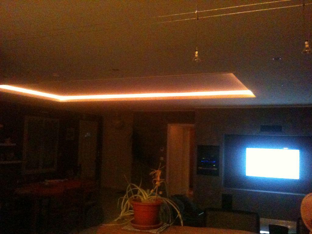 faux plafond uniquement allume
