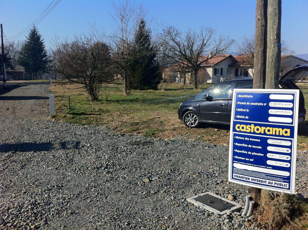 affichage du panneau de permis de construire