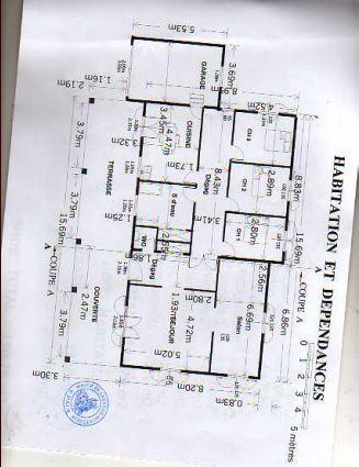 plan de la maison qui est de plain pied