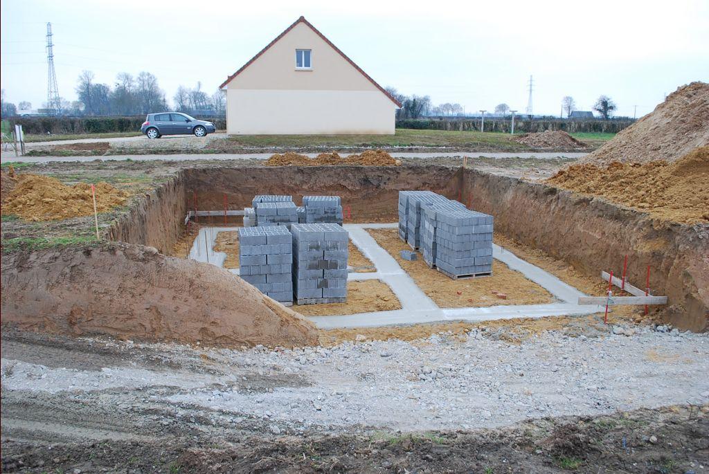 fondations de la maison
