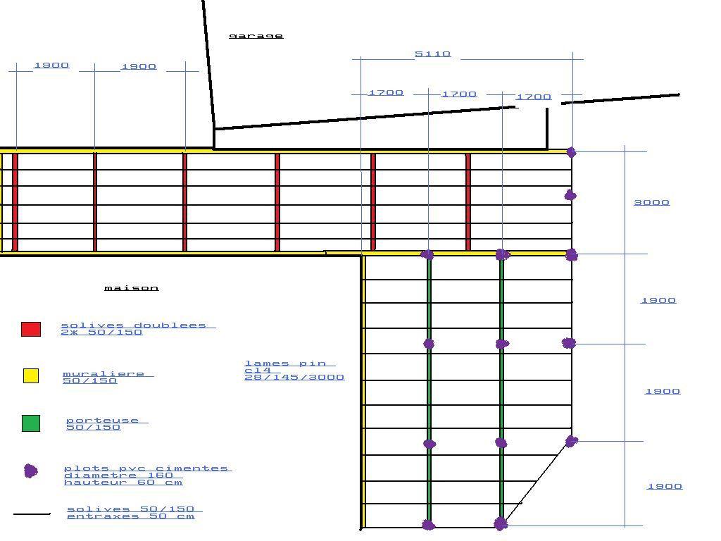 Port e solives terrasse 66 messages for Plan terrasse en bois