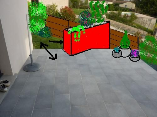 jardini re en dur sur terrasse 15 messages. Black Bedroom Furniture Sets. Home Design Ideas