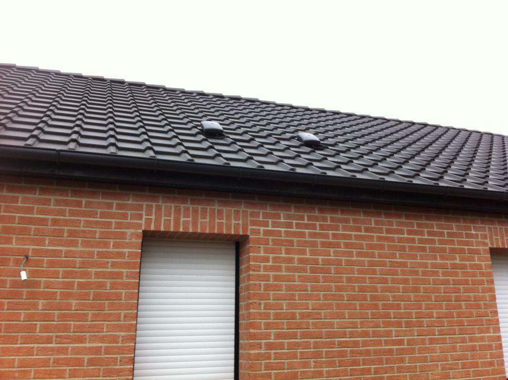 Système installé sur le toit pour la VMC