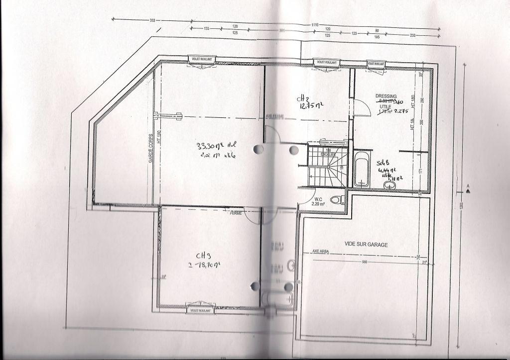 plan etage après grosse modification