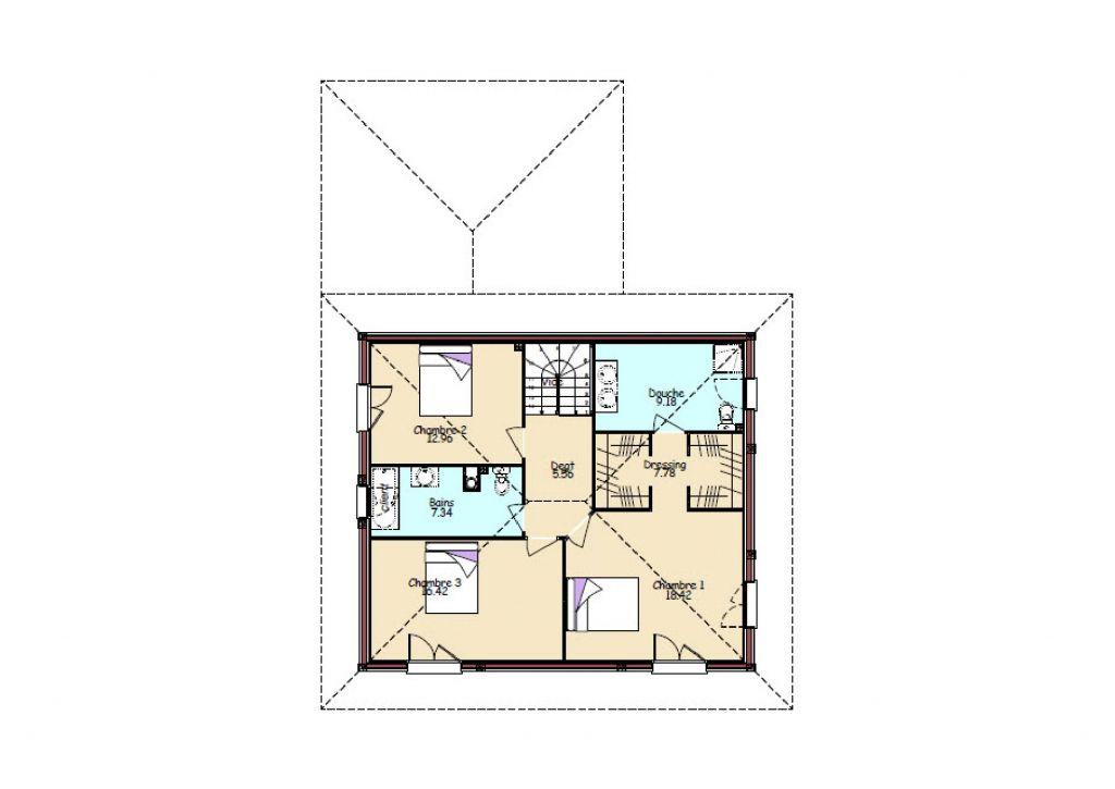 Plan maison 150m2 floor plans click to enlarge shob for Plan maison 150m2 senegal