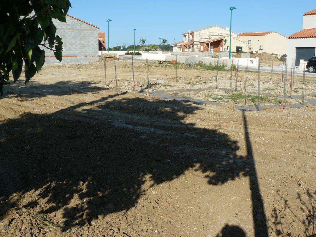 fondations terminées! vue a partir du fond du jardin