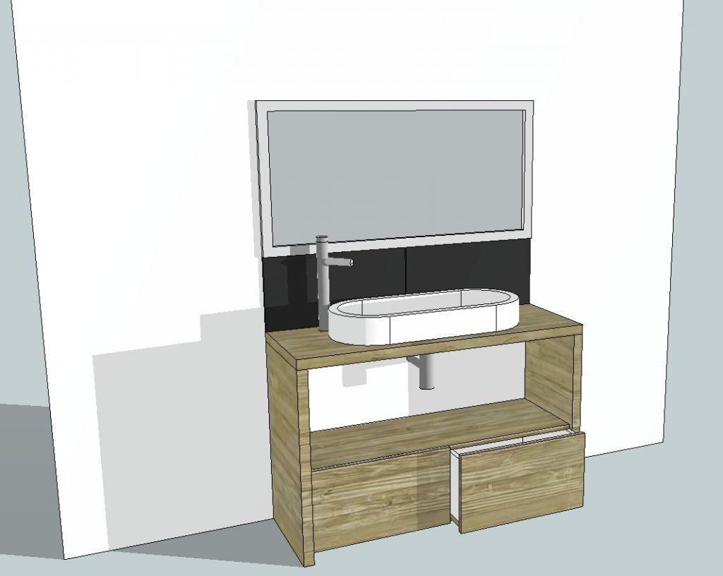 R alisation meuble bois par un menuisier 5 messages for Meuble salle de bain menuisier