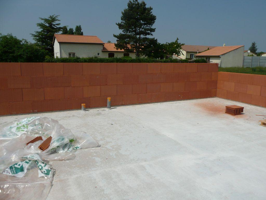 Elévation murs (futur WC privé)