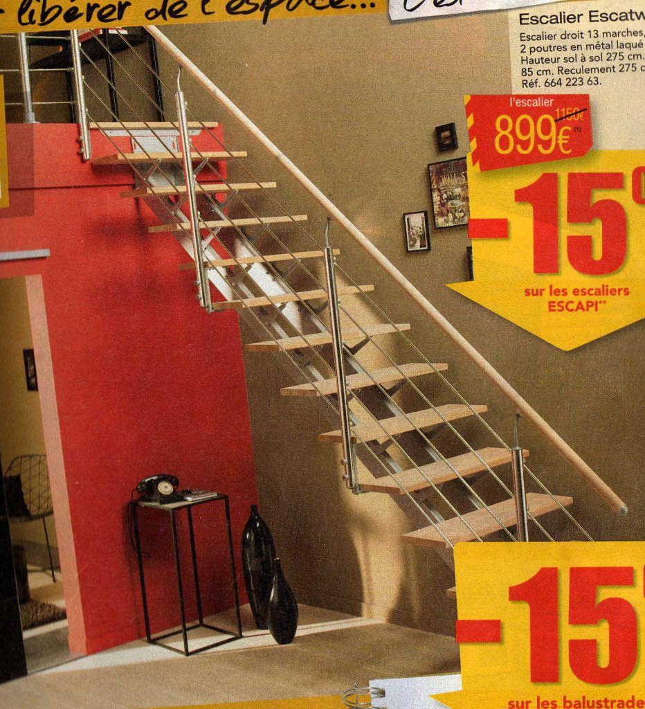 escaliers de chez Leroy Merlin, le nôtre est en quart tournant.