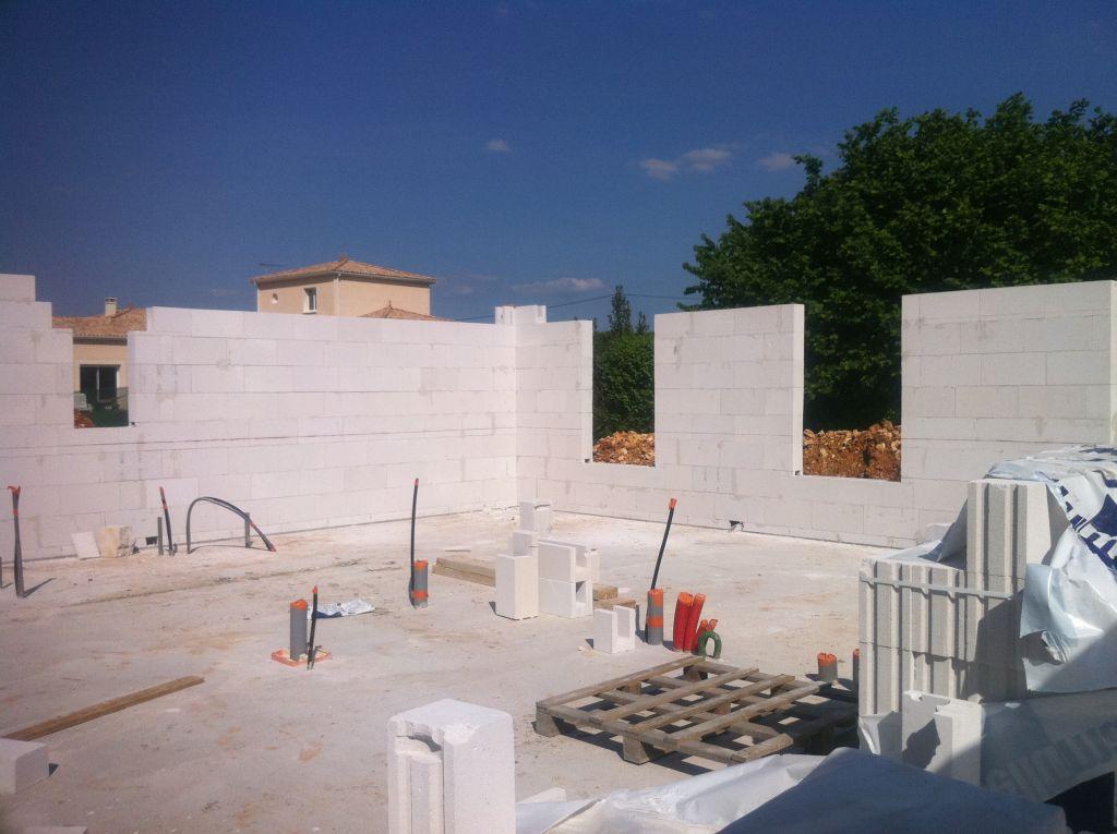 Mur sdb et chambre