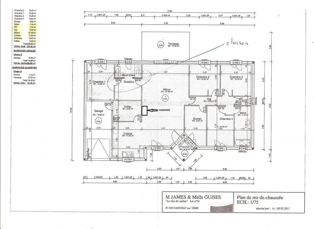 Dernier plan avec salle d'eau modifié