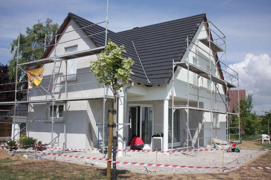 Scoubidou cr pis fini terrasse presque finie bas - Couleur soubassement maison ...