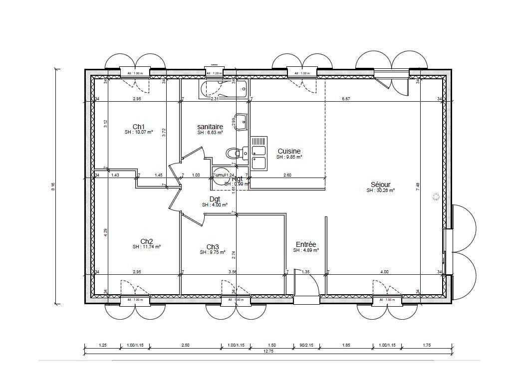 notre petit plain pied a f camp fecamp seine maritime. Black Bedroom Furniture Sets. Home Design Ideas