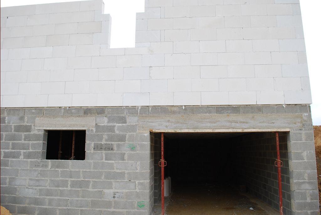 élévation des murs coté garage