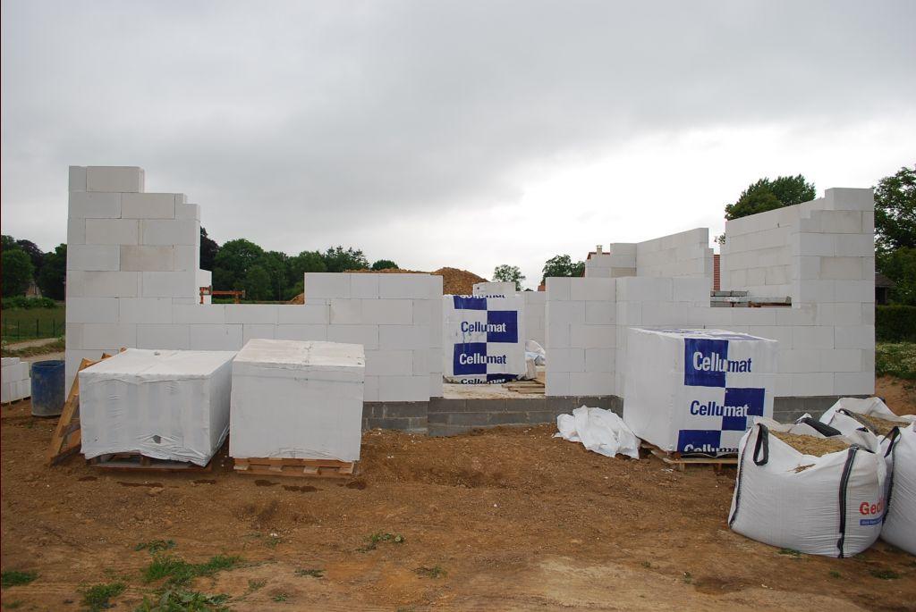 élévation des murs façade