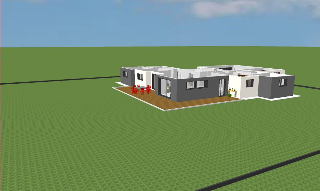 vues 3d provisoires plan de chaque pi ce d p t du permis de construire melrand morbihan. Black Bedroom Furniture Sets. Home Design Ideas