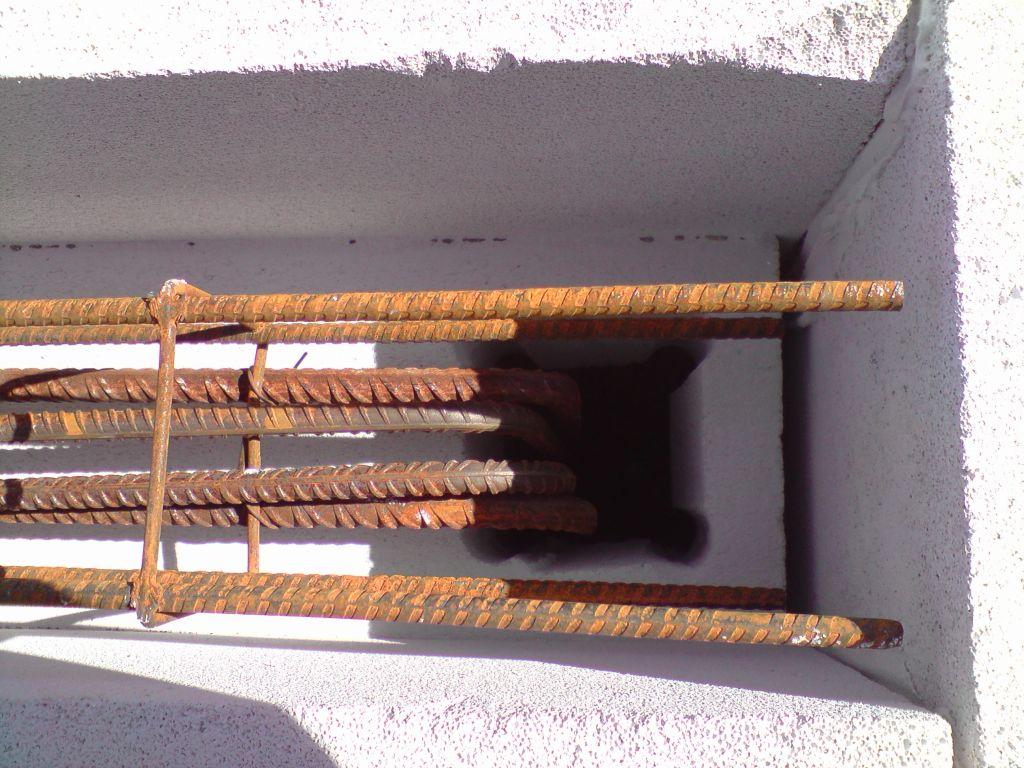 liaison linteau-cadre de baie en BA