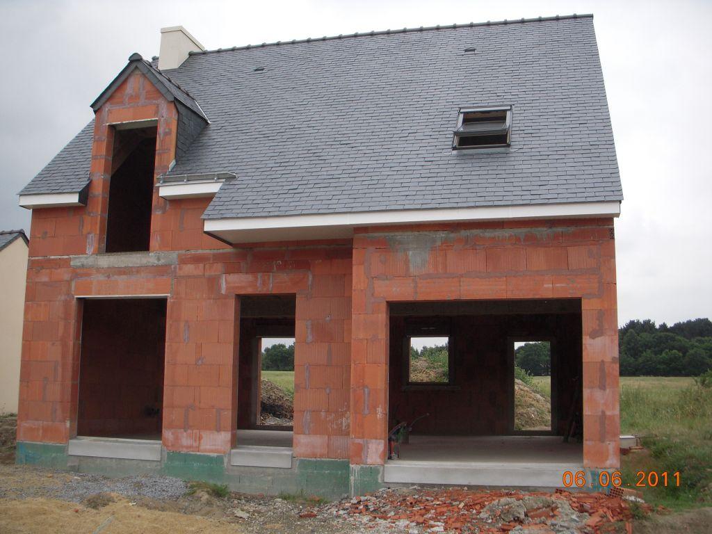 Toiture façade nord