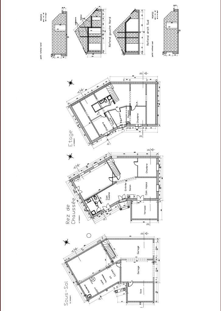 Plans Sous-so, Rdc et étage