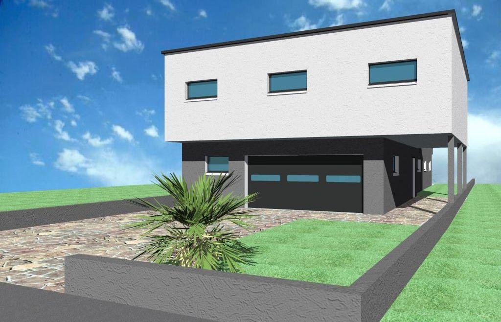facade  sur rue <br /> garage
