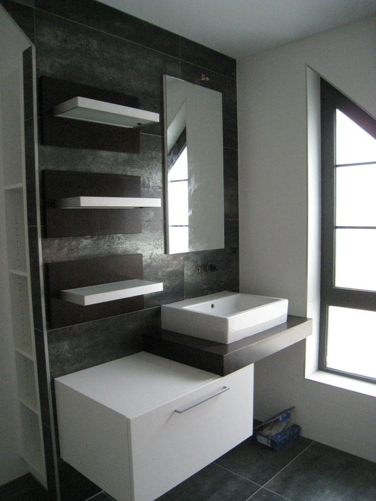 Salle de bain - salle d'eau 5.5m2 revêtement faïence - Mulhouse (Haut Rhin - 68) - novembre 2008