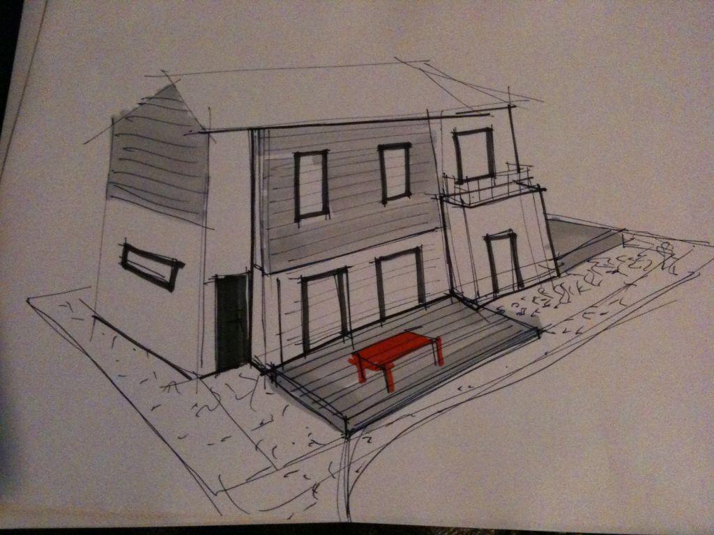 Maison   Terrasse autour de la maison