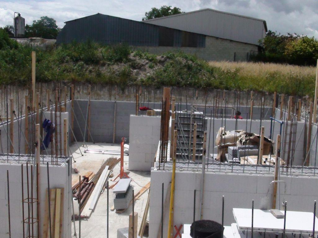 Auto construction maison passive pr s de reims blocs for Autoconstruction maison passive