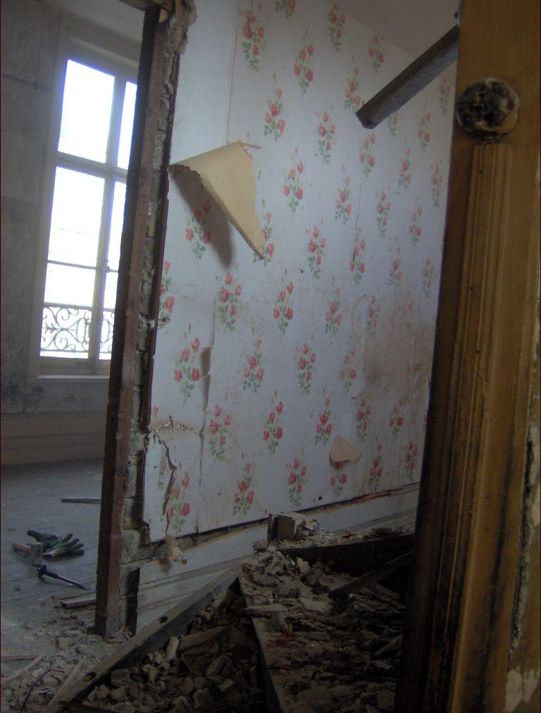Démolition cloisons de l'étage