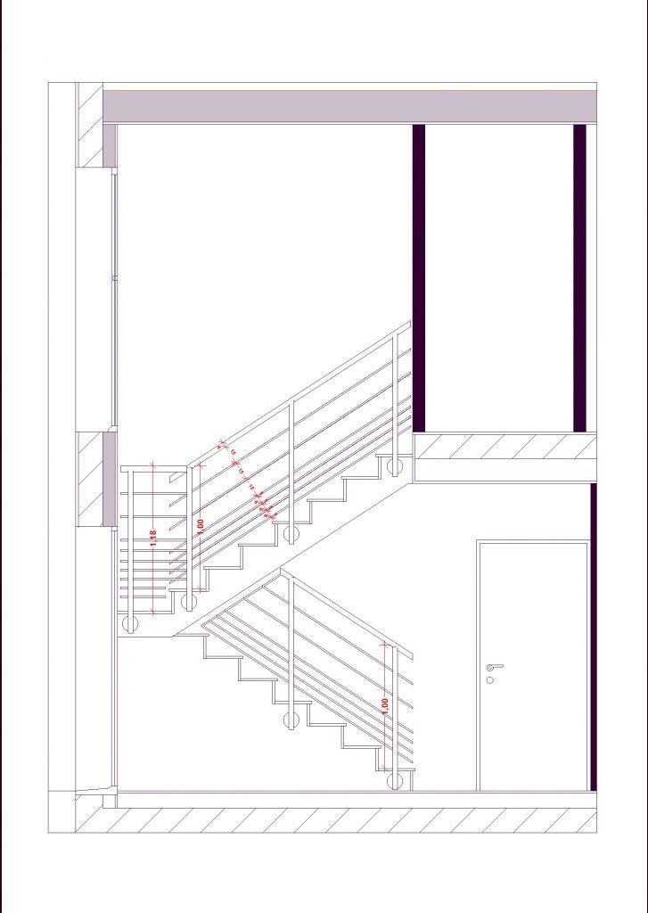 profil d'escalier