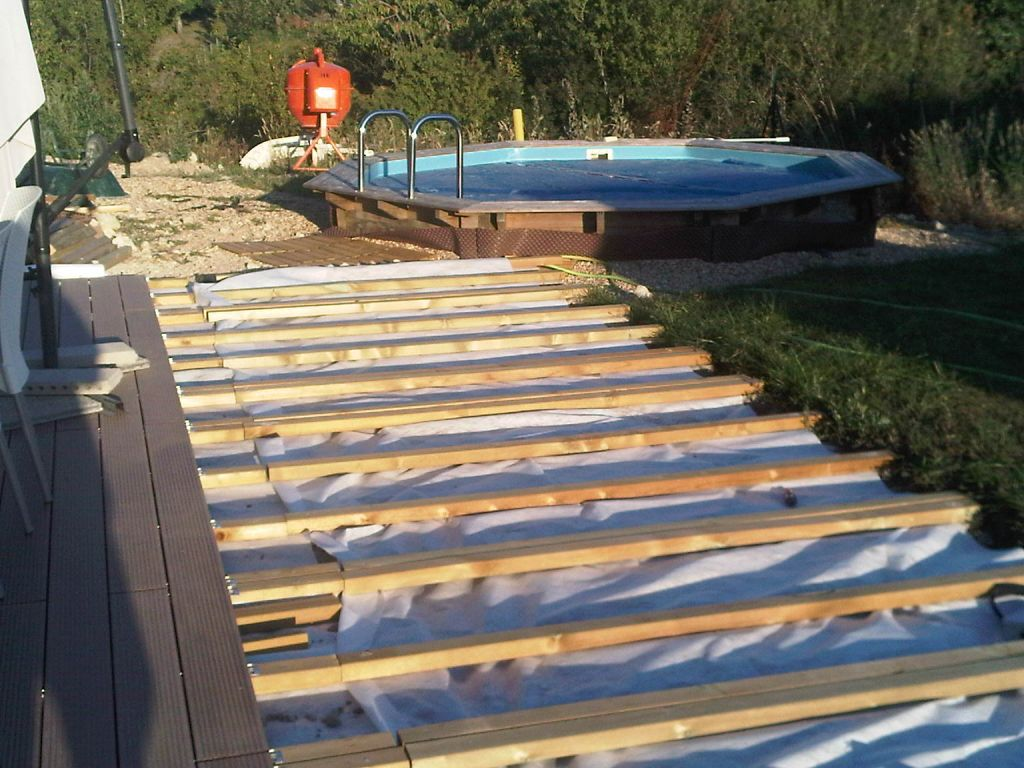 Terrasse en bois composite sur parpaings 42 messages - Terrasse piscine bois composite nanterre ...