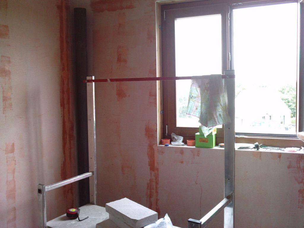 Salle de bain, première...   plancher à l'étage   peinture, entre ...